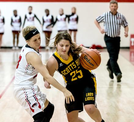 Scotts Hill High School Lady Lion Basketball Photo by Jared James / The Lexington Progress