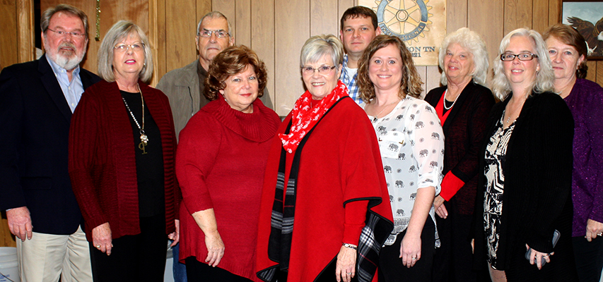 The Henderson County GOP enjoys its annual Christmas meeting at Stewart's Coffee Corner Monday night. Photo by W. Clay Crook/The Lexington Progress.