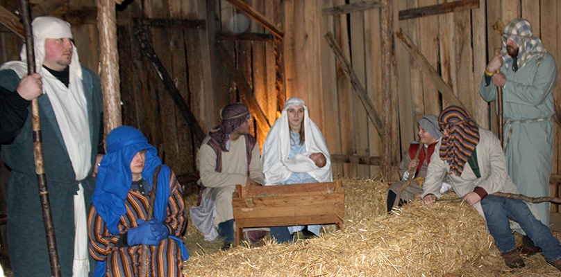 Behold, this day, in the City of Bethlehem…members of Scotts Hill Baptist Church present a moving live Nativity. Photo by W. Clay Crook/The Lexington Progress.