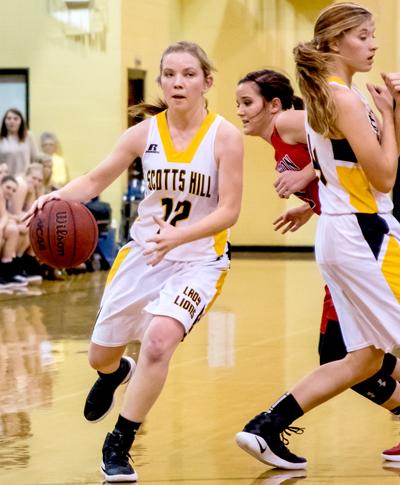Scotts Hill High School Lady Lions Basketball Photo by Jared James / The Lexington Progress