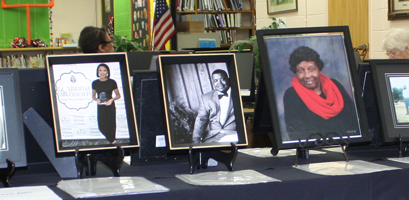 The display at the Everett Horn Library celebrates local achievement for Black History Month. Photo by W. Clay Crook/The Lexington Progress.
