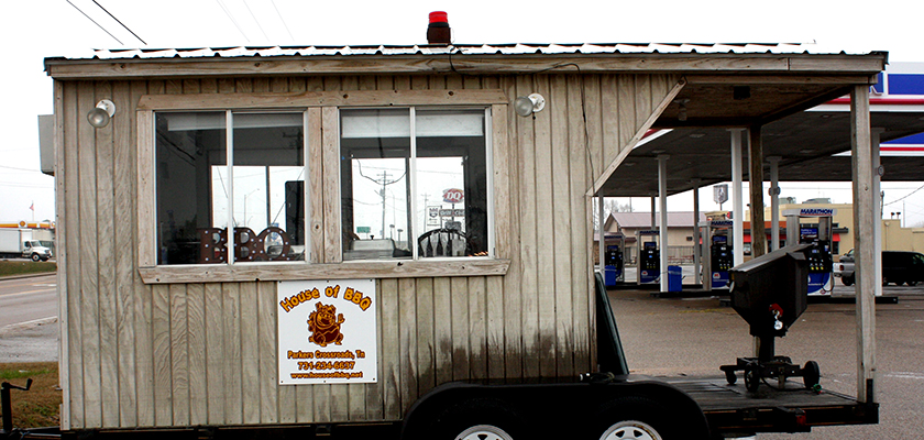 The House of Barbeque stand at Parkers Crossroads, near Subway, just north of the Interstate. Photo by W. Clay Crook/The Lexington Progress.