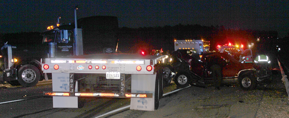 Update: One Fatality in Major Collision on Hwy 412 West
