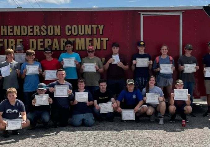 The Henderson County Fire Department hosted a Junior Firefighter Camp from July 14 through July 17, 2021. Photo Submitted / The Lexington Progress