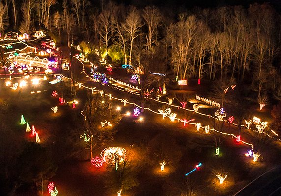 The Darden Christmas lights display by Aaron and Joyce Wood can now be viewed on Darden - Christian Chapel Road. Photo by: Jared James / The Lexington Progress
