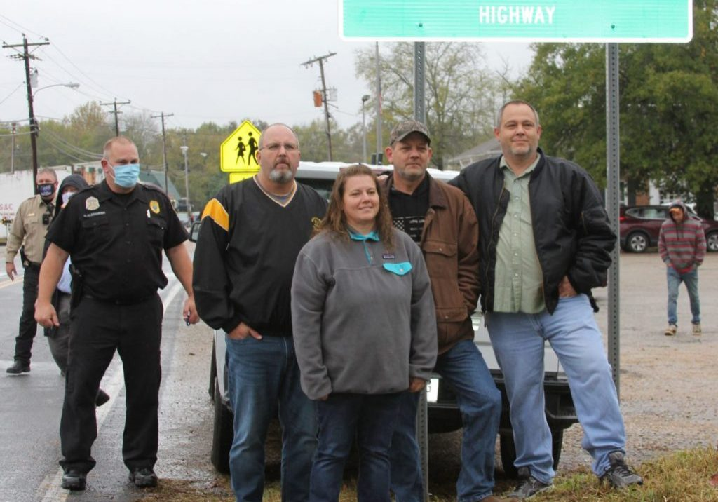 A portion of Highway 114 in Henderson County was dedicated to former Police Chief and Mayor of Scotts Hill, Jessie S. Powers on October 24, 2o20. Photo by: W. Clay Crook / The Lexington Progress