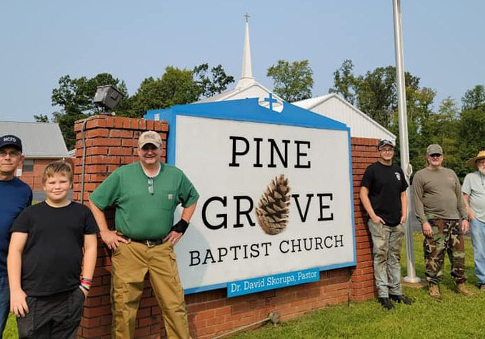 A walking trail at Pine Grove Baptist Church is a project that is underway in hopes of the community being able to enjoy. Photo Submitted / The Lexington Progress