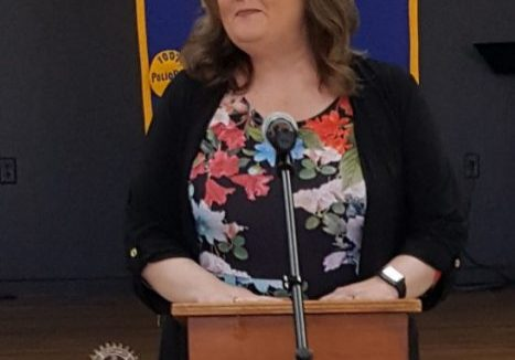 Angela Scott was the special guest speaker at the January 26, 2021 Lexington Rotary Club meeting. Photo by: W. Clay Crook / The Lexington Progress
