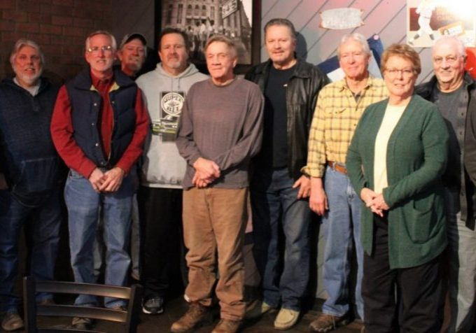 Some of Lexington's 1970 Motocross enthusiast had a reunion at Big Cat's. Pictured (left to right) Ron Prince, Kenny Myracle, Keith Lindsey, Mike Woods, Bryon Cannon, Gene McCay, Allen Beecham, Johnny Williams, Nancy Tolley, Putt Tolley, and Albert Fesmire. Not pictured- Greg Wood, Harvey Moody, Myrell Gilliam, Jeff Johnson and Eddie McDaniel. Photo Submitted / The Lexington Progress