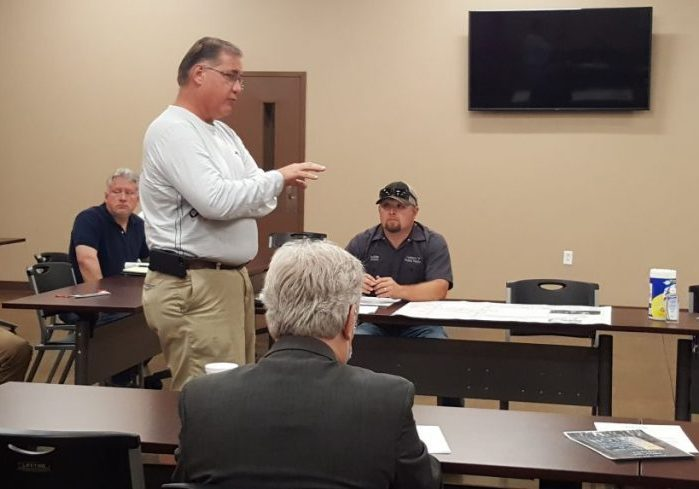 Jim Terry discusses the mobile home park on Crazy Doe Road at the April 12, 2021 Lexington Municipal-Regional Planning Commission meeting. Photo by: W. Clay Crook / The Lexington Progress