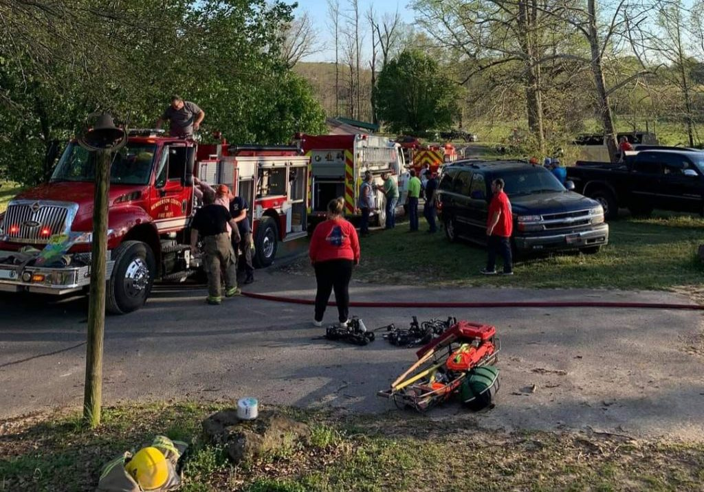 A house fire was reported to the Henderson County Fire Department Stations 4, 7, and 10 Sunday, April 11, 2021 on Alberton Road in Henderson County. Photo Submitted / The Lexington Progress