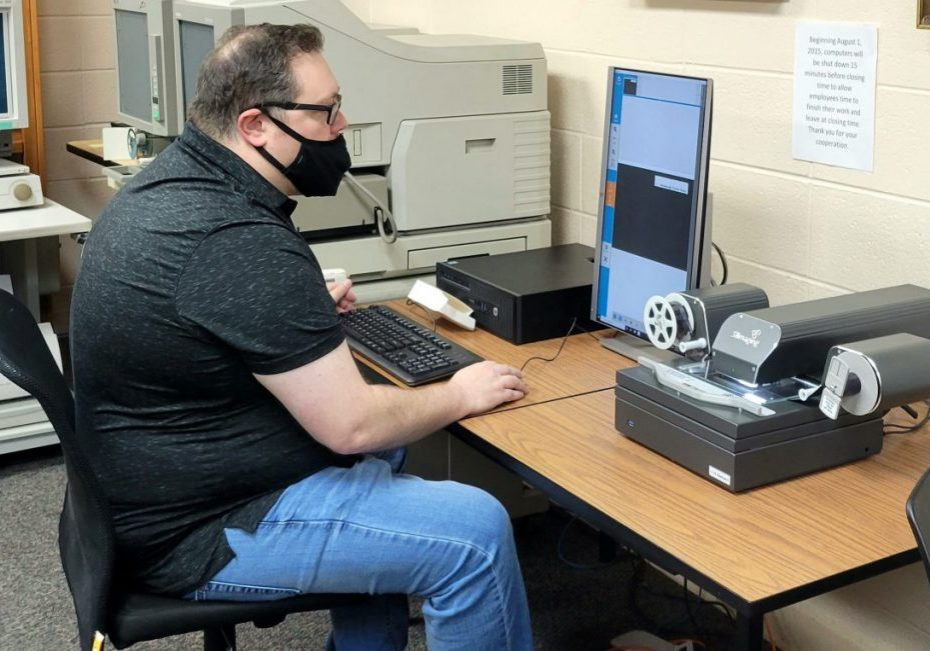 The new digital microfilm reader is now ready for use in the Tennessee Room at the Everett Horn Lexington-Henderson County Library. Photo by: W. Clay Crook / The Lexington Progress