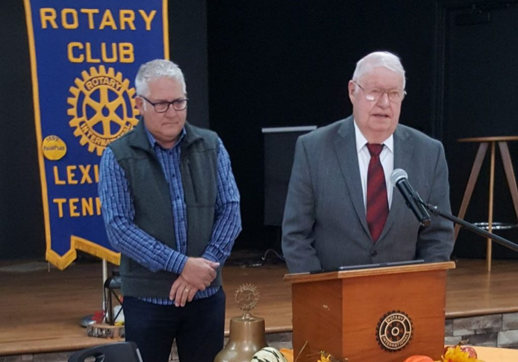 David and Bobby Beecham were the special guests at the November 24, 2020 Lexington Rotary Club meeting. Photo by: W. Clay Crook / The Lexington Progress