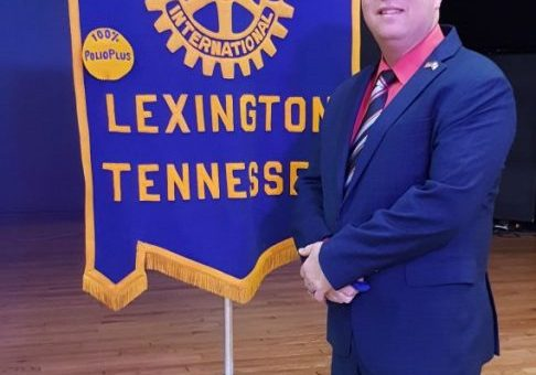 Henderson County Mayor Eddie Bray delivered the State of the County address at the March 2, 2021 Lexington Rotary Club meeting. Photo by: W. Clay Crook / The Lexington Progress