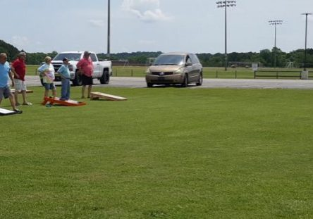 A cornhole tournament was held at that old Franklin-Wilkins Airport on June 5, 2021, which was hosted by Lexington's VFW Post #1294 and the Ladies Auxiliary. Photo by: W. Clay Crook / The Lexington Progress
