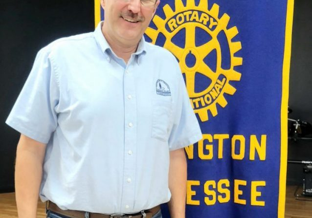 Stan Wafler, with Beech River Baptist Association Disaster Relief Team, was the special guest speaker at the September 21, 2021 Lexington Rotary Club meeting. Photo by: W. Clay Crook / The Lexington Progress