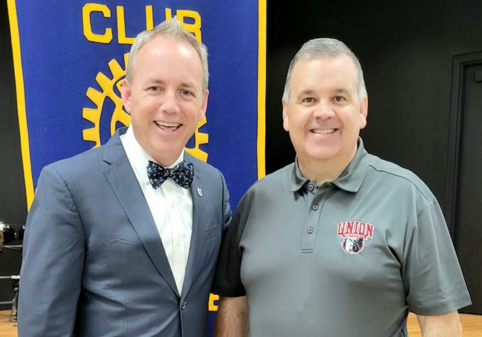 Dr. Dub Oliver, President of Union University, was the special guest speaker at the July 20, 2021 Lexington Rotary Club meeting. Photo by: W. Clay Crook / The Lexington Progress