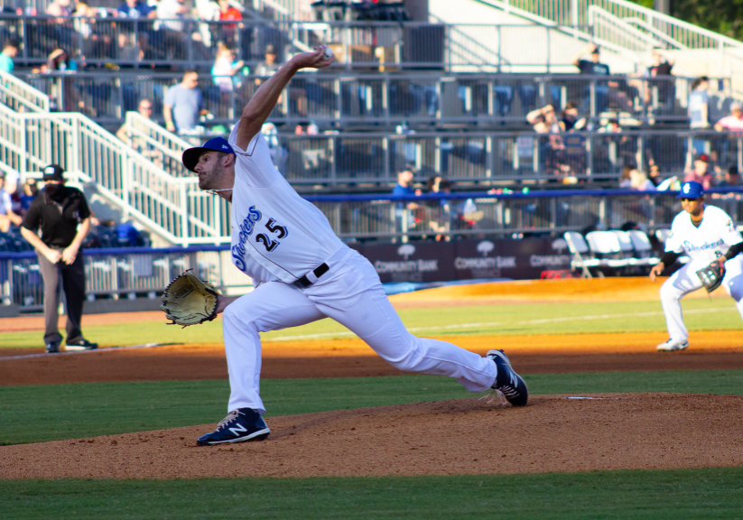 Ethan Small, with the Biloxi Shuckers, was recently named the Double-A South Pitcher of the Week. Small was a former pitcher for the Lexington High School baseball program. Photo by: Kelsey Cousins