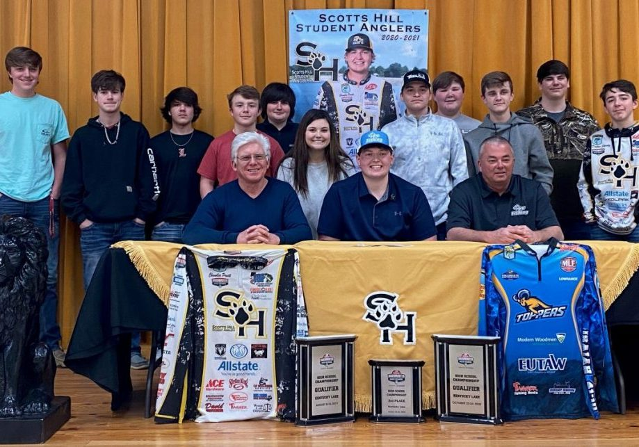 Chandler Pruett, a Scotts Hill Student Angler, recently signed with Blue Mountain College Bass Fishing. Photo Submitted / The Lexington Progress